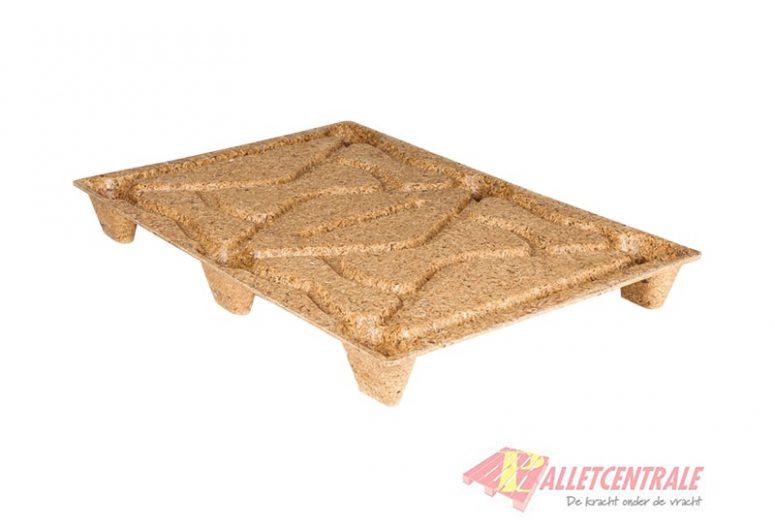 Wood fiber pallets / Vezelpallet 80 x 120cm licht nieuw bovenzijde