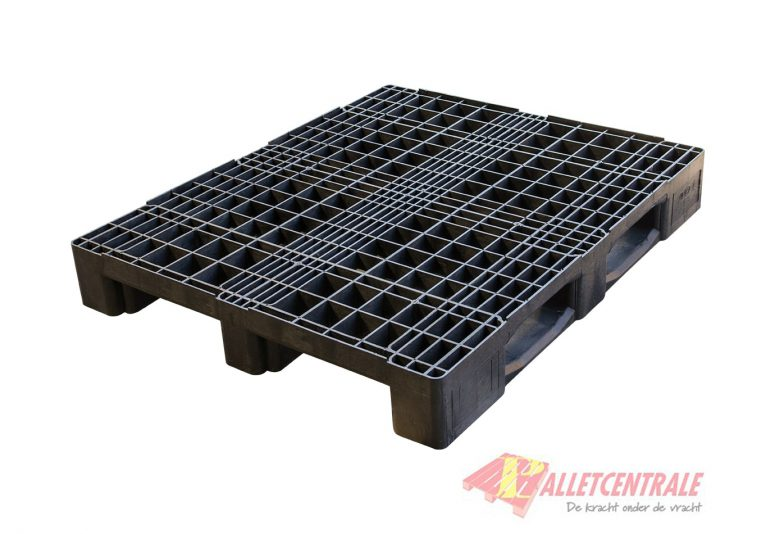 Plastic pallet open upper deck medium weight 100x120cm, used