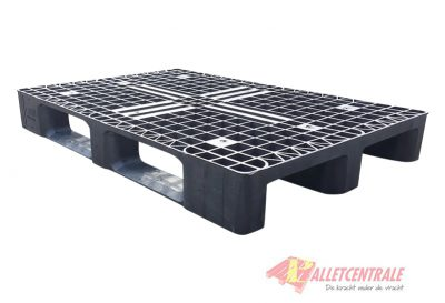 Plastic pallet open upper deck medium weight 80X120cm, used