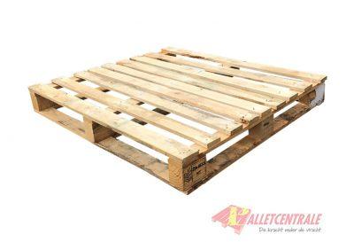 Blokpallet 100 x 120cm halfzwaar omlopend gebruikt bovenzijde