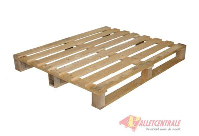 Blokpallet 100 x 120cm eenmalig open gebruikt bovenzijde