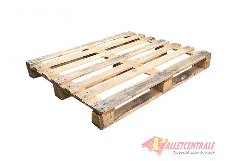 Blokpallet 100 x 120cm halfzwaar gebruikt bovenzijde