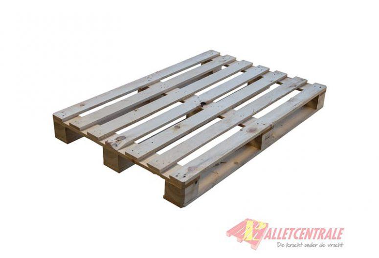Blokpallet 80 x 120cm halfzwaar open gebruikt bovenzijde