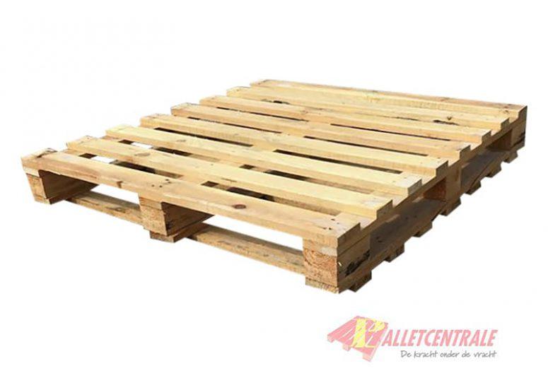 Blokpallet 115 x 115cm dubbeldek gebruikt bovenzijde