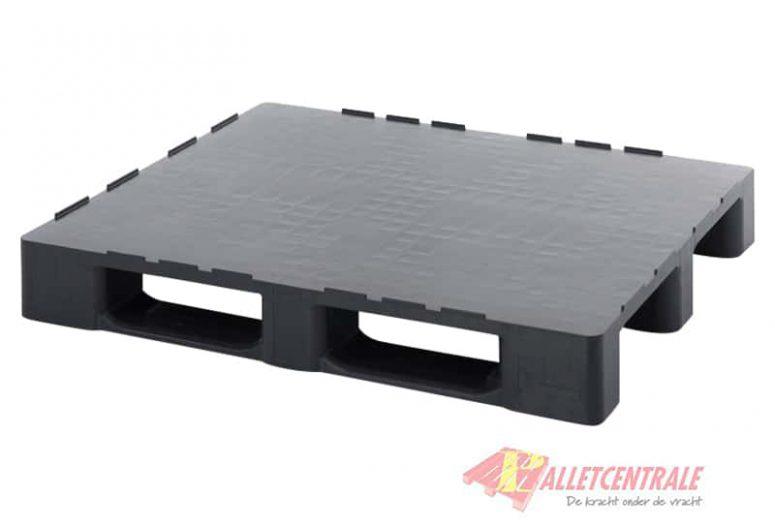Plastic pallet closed upper deck medium weight 100X120cm, new