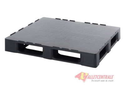 Plastic pallet circulating closed upper deck medium weight 100X120cm, new