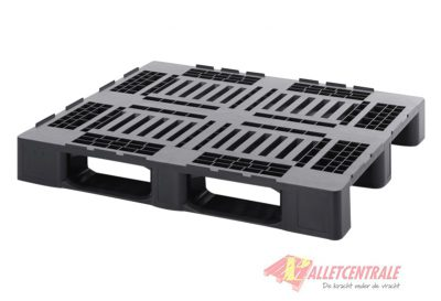Plastic pallet open upper deck medium weight 100X120cm, new