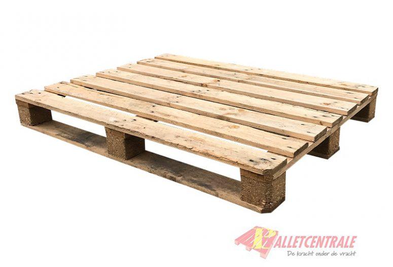 Blockpallet crossdeck medium weight 76×120/130cm, reconditioned