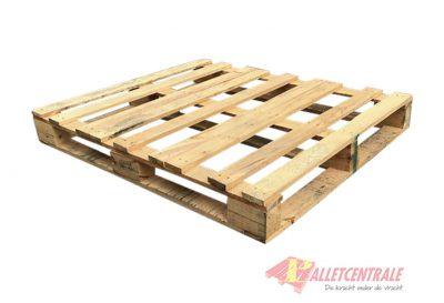Open blokpallet halfzwaar 104x120cm, gebruikt