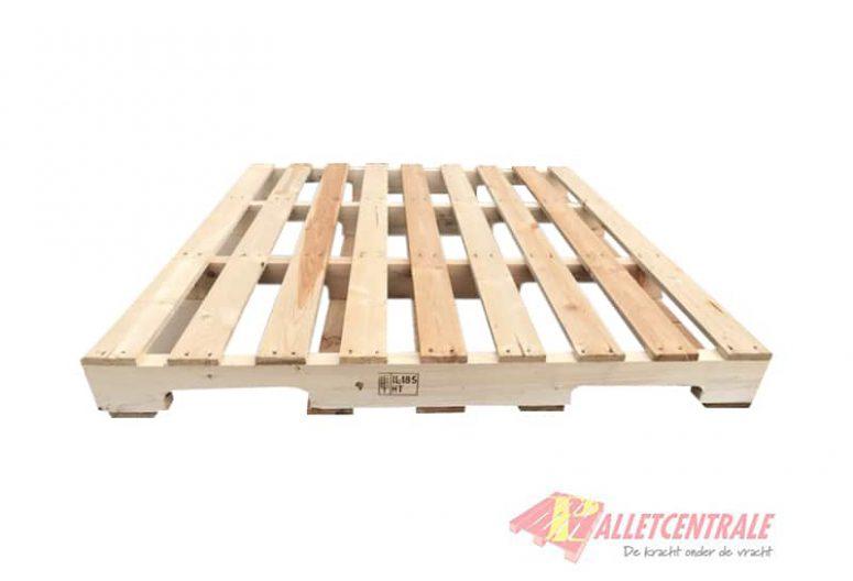 Balkpallet 110 x 130cm gebruikt bovenzijde
