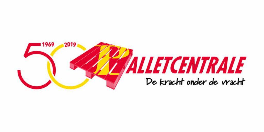 Palletcentrale logo 50 jarig bestaan sociale media