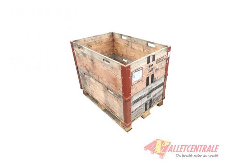 Houten kist 80 x 120cm vaste opzetrand zijde