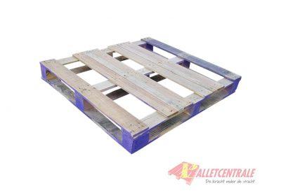 Omlopende Blokpallets 105 x 120cm zwaar omlopend gebruikt bovenzijde