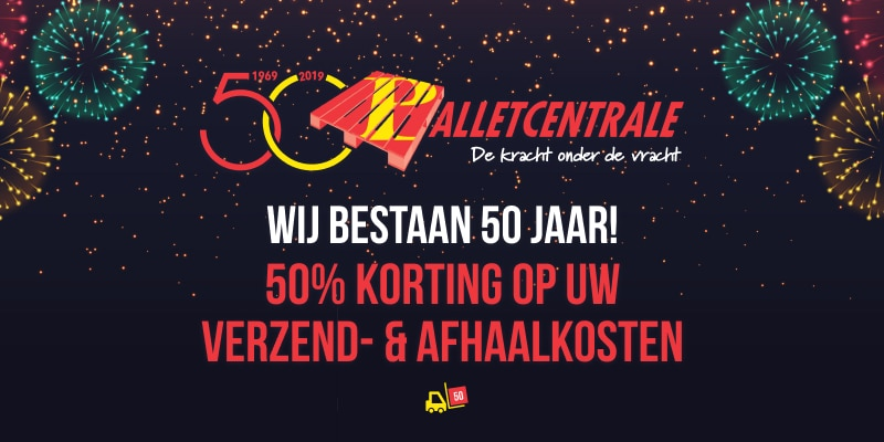 Palletcentrale bestaat 50 jaar