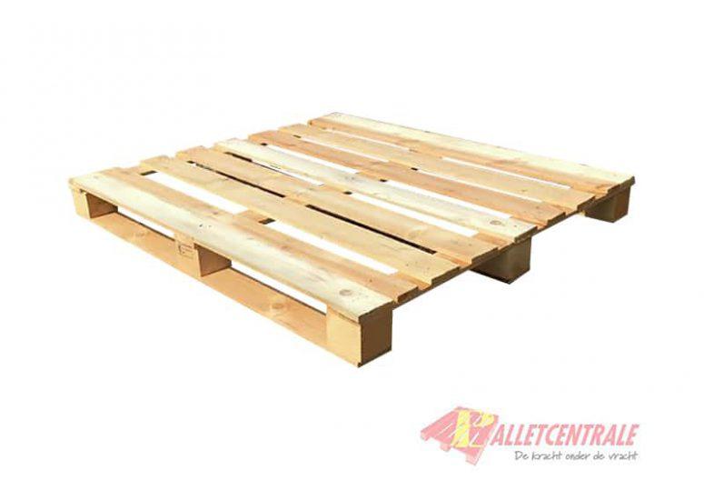Blokpallet 108 x 120cm open gebruikt bovenzijde