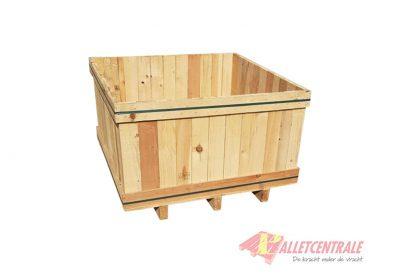 Houten kist 110 x 110 x 45cm gebruikt zijde