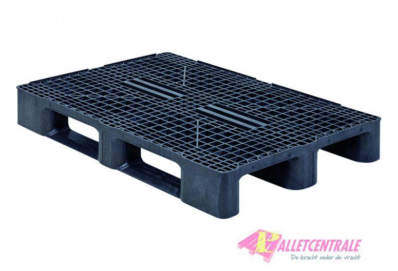 Q-Pall kunststof pallet open bovendek zwaar 80x120cm, nieuw